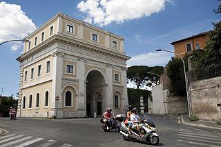 Porta San Pancrazio building in Rome, Italy