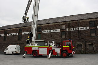 Northern Ireland Fire and Rescue Service - A ladder platform at Portadown