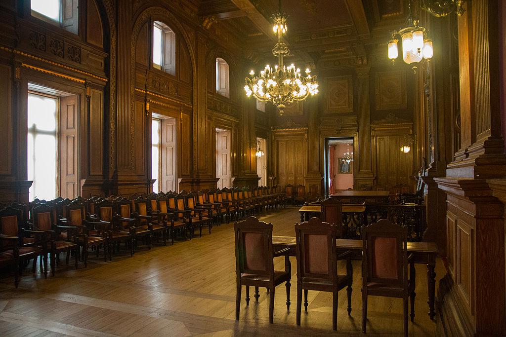 Salle des audiences solennelles dans le palais de la bourse de Porto</strong> - Photo de Daniel Villafruela.