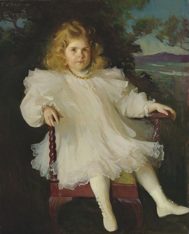 Портрет Марджори Колдуэлл Вестингауз 1899 Фрэнк Уэстон Benson.jpg