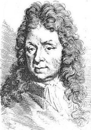 Melchior d'Hondecoeter - Portrait of Melchior d'Hondecoeter for Arnold Houbraken's Schouwburg, by Houbraken's son Jacob.