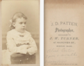 Portrait of girl by J D Patten of 47 Hanover Street in Boston.png