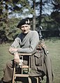 Portrait of the Eighth Army Commander, General Sir Bernard Montgomery, wearing his 'battle sweater' and tank beret, in the UK, 1943. TR1042.jpg