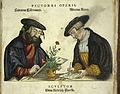 Portrait of two of the engravers of Fuchs' 'de Historia....' Wellcome L0015096EB.jpg