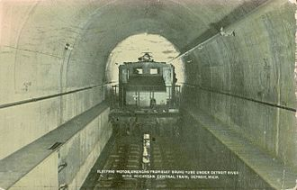 Michigan Central Railway Tunnel - Postcard, 1911