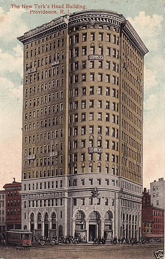 Turk's Head Building - From a postcard mailed in 1914