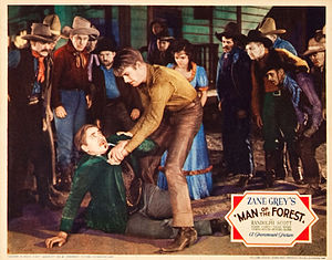 Randolph Scott - Noah Beery, Sr. and Scott in Man of the Forest, 1933