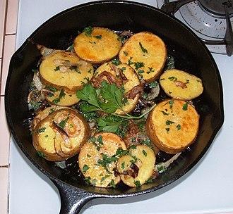 Lyonnaise cuisine - Potatoes lyonnaise