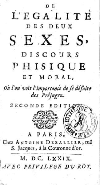 File:Poullain de La Barre - De l'égalité des deux sexes, seconde édition.djvu