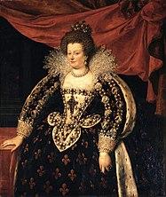 Maria de 'Medici in coronation regalia