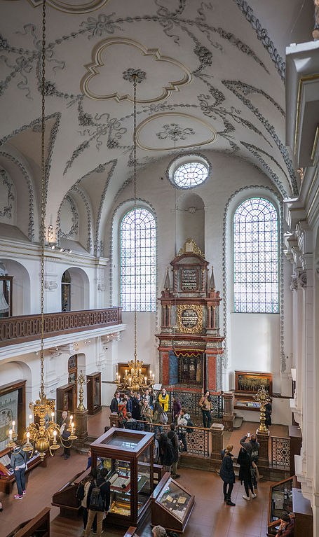 Intérieur de la synagogue Klaus à Prague - Photo de Thomas Ledl