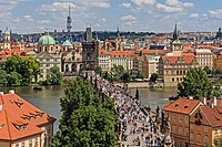 Prague 07-2016 view from Lesser Town Tower of Charles Bridge img3.jpg