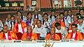 Pranab Mukherjee, the Governor of West Bengal, Shri M.K. Narayanan, the Union Minister for Civil Aviation, Shri Ajit Singh and the Director, IIT Kharagpur.jpg