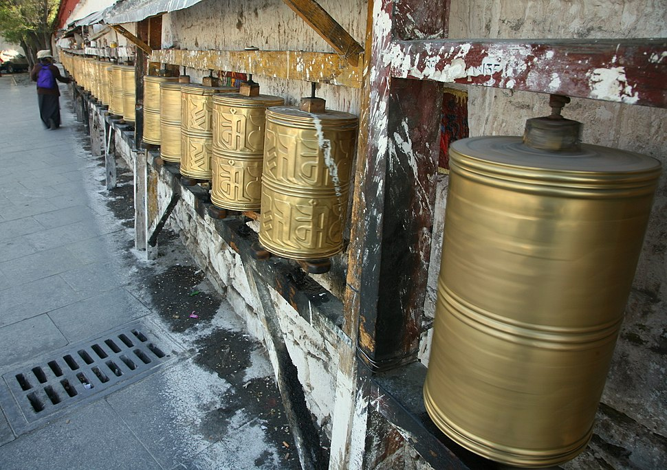 Prayer Wheels at the Potala in Lhasa
