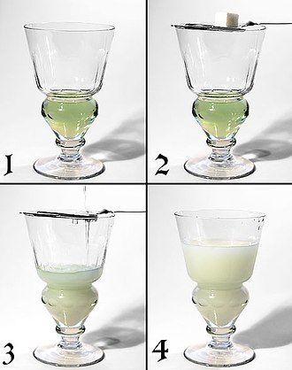 Anethole - Diluting absinthe with water produces a spontaneous microemulsion (ouzo effect)