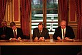 President Clinton, Jacques Chirac and Helmut Kohl sign the Balkan Peace Agreement - Flickr - The Central Intelligence Agency.jpg