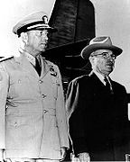 President Harry S. Truman (right) with Admiral Arthur W. Radford, USN.jpg