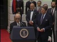 File:President Reagan's and President Habib Bourguiba of Tunisia Remarks on June 18, 1985.webm