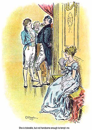 Eligible bachelor - Jane Austen's novels often contain an eligible bachelor, such as Fitzwilliam Darcy.