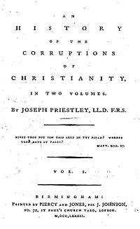 An History of the Corruptions of Christianity cover
