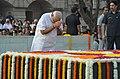 Prime Minister Narendra Modi pays tribute to Mahatma Gandhi on Gandhi Jayanti 2016.jpg