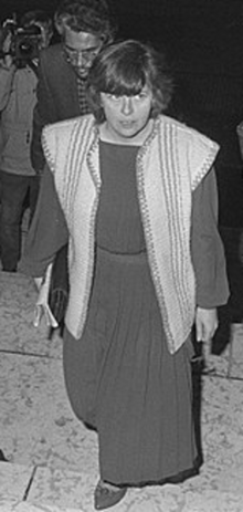 monochrome photograph of Bernadette McAliskey