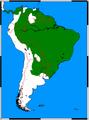 Procyon cancrivorus range map.png