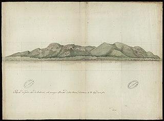 Prospecto da grande Serra do Carahumaã, sobre a margem Oriental do Rio Branco, na distância de 91 léguas da sua foz