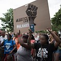 Protest march in response to the Philando Castile shooting blurred.jpg
