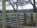 Public footpath stile on Thorneyfields Lane - geograph.org.uk - 304722.jpg