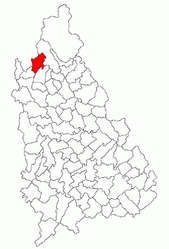 Location in Dâmbovița County