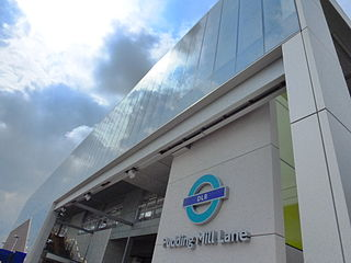 Pudding Mill Lane DLR station Docklands Light Railway station