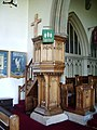 Pulpit, The Parish Church of St Michael, Kirkham - geograph.org.uk - 495948.jpg