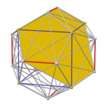 Pyritohedral great icosahedron core, face yellow.png