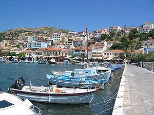 Pythagoreio - View of the harbour