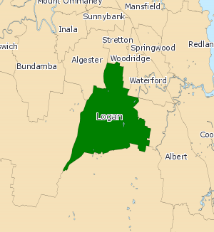 Electoral district of Logan - 2008 map of Logan
