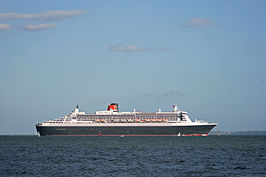 Achterzijde Queen Mary 2