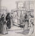 Queen Alexandra visiting the sick in the Patrick ward, Dubli Wellcome V0012543.jpg