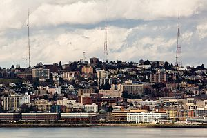 Queen Anne, Seattle - Queen Anne Hill as seen from Hamilton Viewpoint