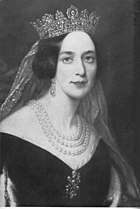 Drottning Josefina målad av Axel Nordgren.