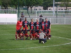 Paris Saint-Germain Academy - Reserve team before a 2007–08 Championnat de France Amateur match against Bayonne.