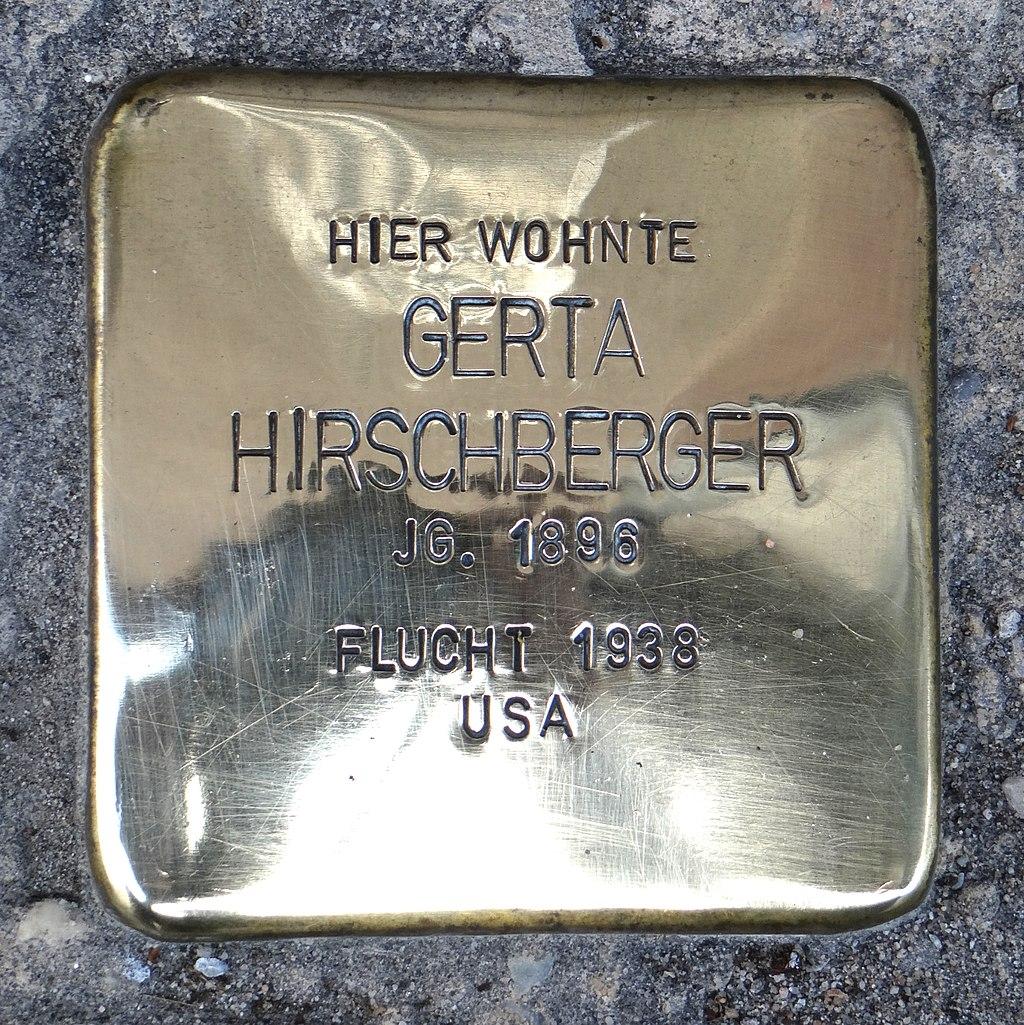 Rüdesheim am Rhein Stolperstein Steingasse 9 Gerta Hirschberger.jpg