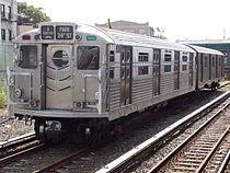 R11-R34 8013 at Rockaway Park - Beach 116th Street Station.jpg