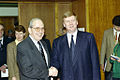 RIAN archive 434128 Russian First Deputy Prime Minister Anatoly Chubais meeting with IMF Managing Director Michel Camdessus.jpg