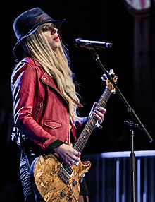 Orianthi performing in 2017