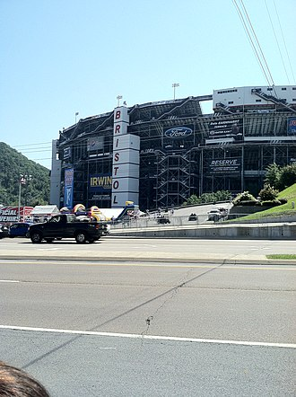 Bristol Motor Speedway - Outside of turn 2