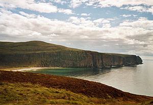 English: Rackwick on Hoy. The sea was still & ...