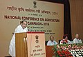 Radha Mohan Singh addressing at the inauguration of the National Conference on Agriculture for Rabi Campaign-2014, in New Delhi. The Secretary, Ministry of Agriculture, Shri Ashish Bahuguna is also seen.jpg