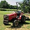 Radlett Cricket Club ground maintenance tractor, Hertfordshire.jpg