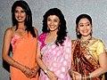Ragini Khanna, Disha Wakani,Aishwarya Sakhuja on the sets of KBC 03.jpg